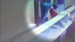 Caught On Camera: Man Attacks Woman With Sword In A Temple In