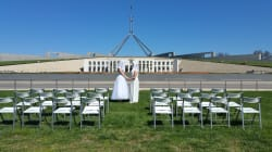 This Fake Wedding Outside Parliament Is An Amazing Plebiscite