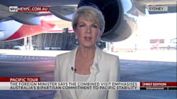 Watch Julie Bishop Almost Get Run Over By Massive Qantas
