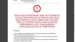 Google et Wikipedia, sites faisant l'apologie du terrorisme? Non, simple erreur