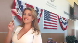 Former Miss Universe Becomes U.S. Citizen In Time To Cast Vote Against