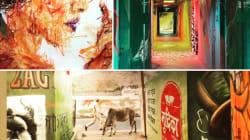 Les images envoûtantes d'une cité U de Paris inondée par le street art avant sa