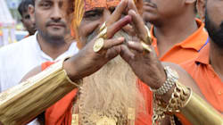 Meet India's 'Golden Baba', The Godman Who Wears 12 Kg Of Gold