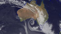 Swirling, Curly, Weather Bomb Unleashes Meteorological Mayhem In