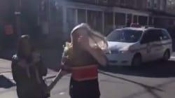 Cette jeune femme n'aurait vraiment pas dû frapper ce