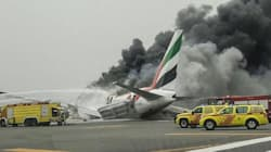 Dramatic Video Of Emirates Plane Bursting Into Flame After Crash