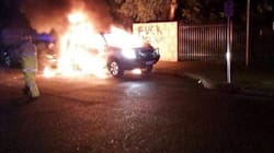Suspected Petrol Bomb Attack Outside Perth