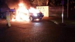 Suspected Petrol Bomb Attack Outside Perth
