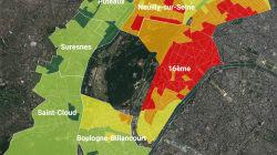 La carte des prix de l'immobilier (et leur évolution) dans l'Ouest de Paris et sa