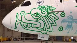 Quetzalcóatl en el avión más mexicano del