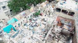 Vue aérienne des conséquences de l'attentat à
