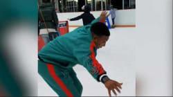 Regarder ce monsieur patiner pour la première fois est