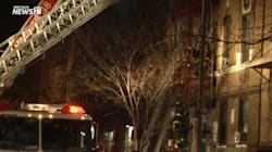 Les images du pire incendie à New York depuis des