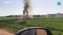 Un avion de chasse s'écrase en Espagne après le défilé de la Fête