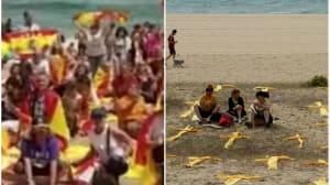 Guerra de banderas en las playas de
