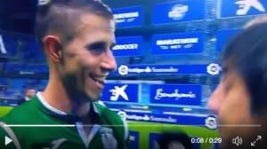 Un futbolista del Leganés se queda con esta cara ante el garrafal error del