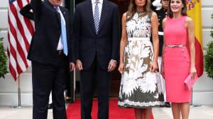 Trump muestra su deseo de ir a España al recibir al rey en la Casa