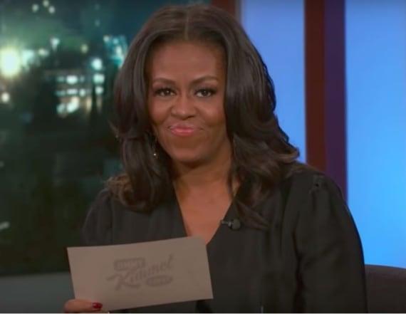 Watch Michelle Obama on 'Jimmy Kimmel'