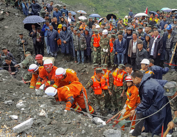 Landslide buries mountain village in China