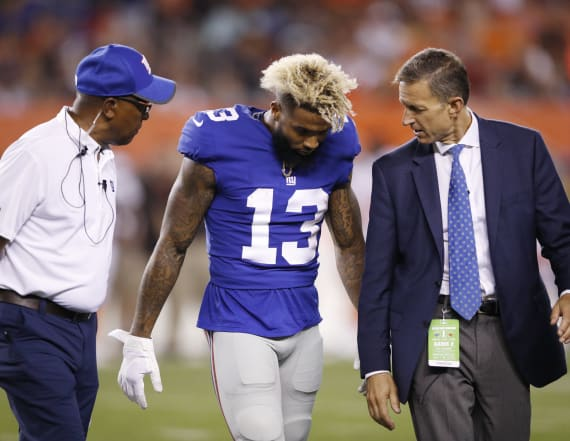 Odell Beckham Jr suffered a scary-looking leg injury