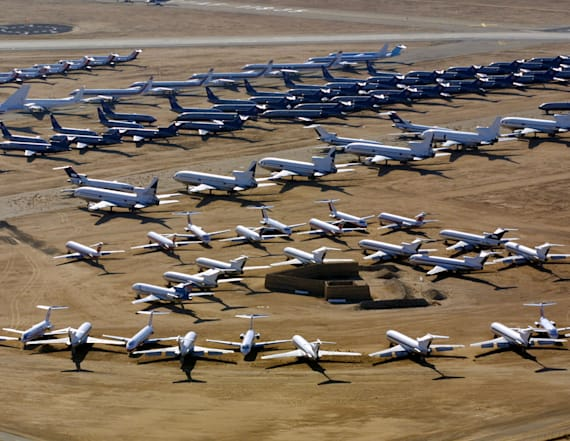 See where 'jumbo jet' planes go to die