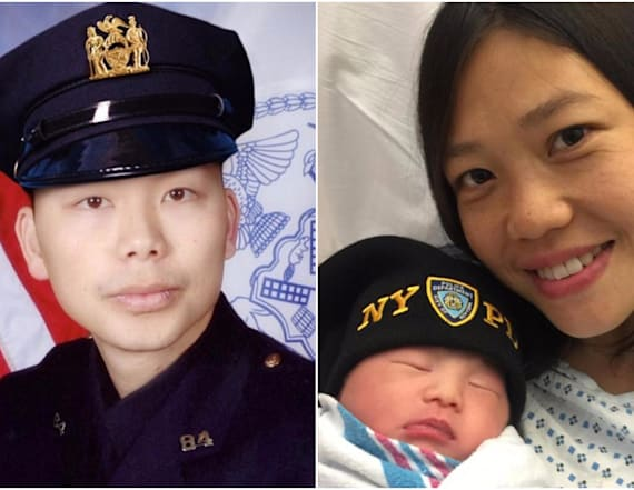 Slain cop's wife gives birth to baby 3 years later