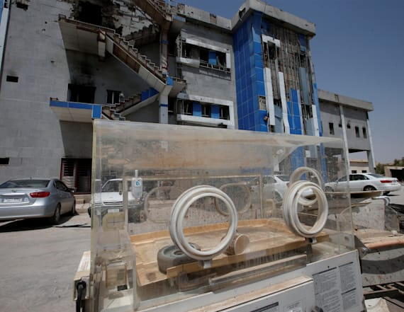 New life begins amid ruins of destroyed hospital