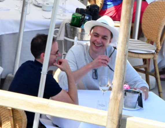 Newlywed Jim Parsons seen on honeymoon