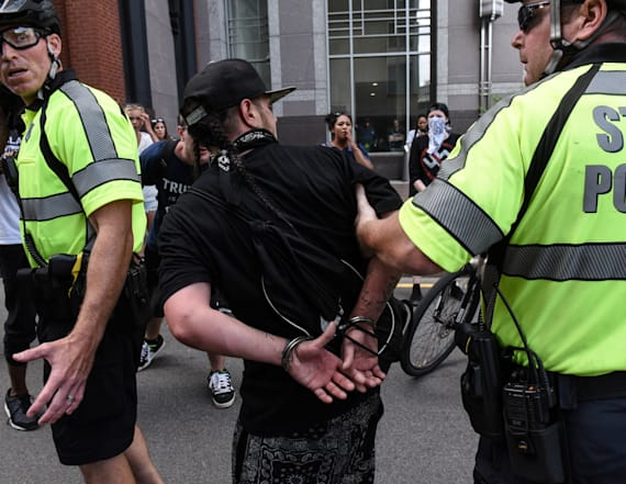 Boston police arrest 27 people during protests