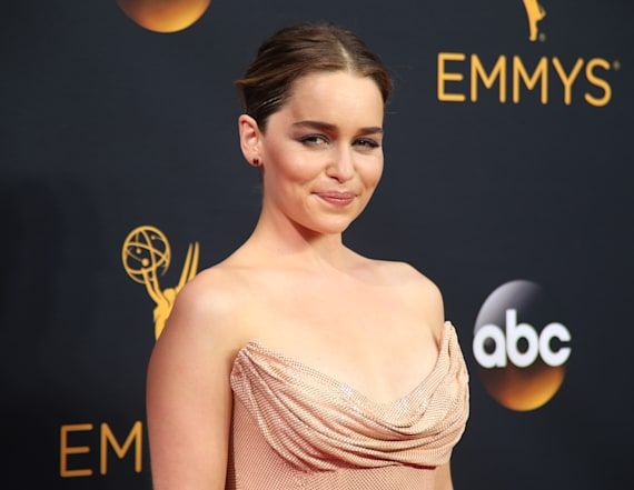Emilia Clarke lets 'Game of Thrones' secret slip