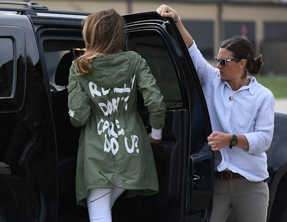 Melania source explains her controversial jacket