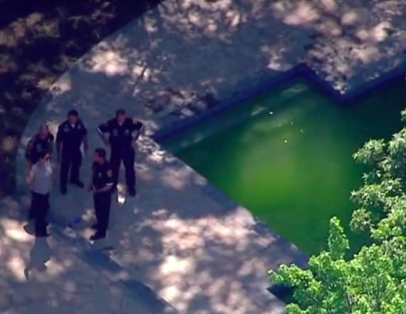 Three-year-old twins drown in backyard pool