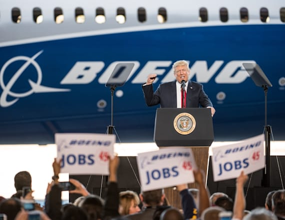Boeing plans job cuts months after Trump's visit