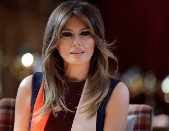 Melania Trump recycles $1,280 striped shirtdress