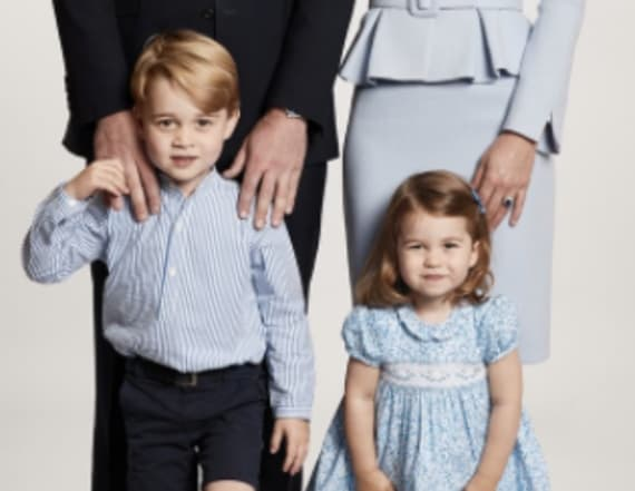 George and Charlotte match in their Christmas card