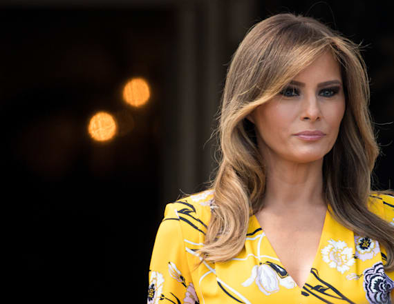 First lady Melania Trump defends husband's