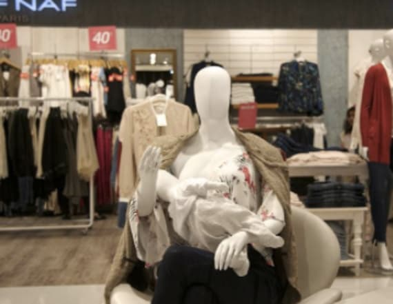 Malls in one country show breastfeeding mannequins