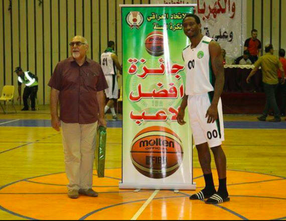 Iraq's new basketball star is an American athlete