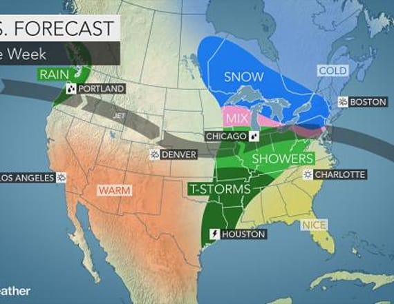 Wintry weather to return to 2 US regions this week