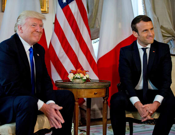 Trump to visit Paris at Macron's invitation