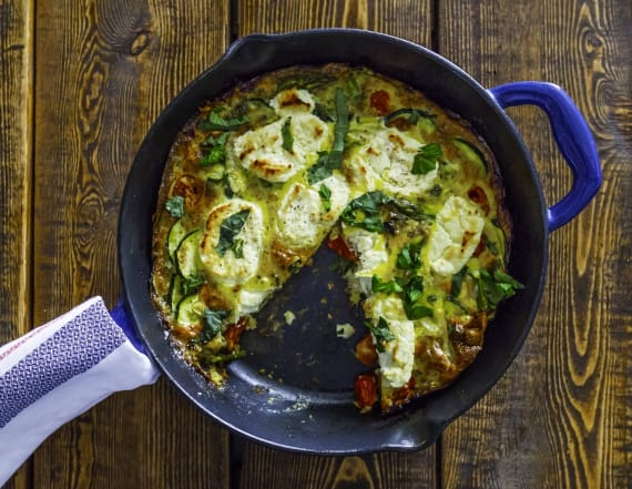 Best Bites: Spring vegetable goat cheese frittata