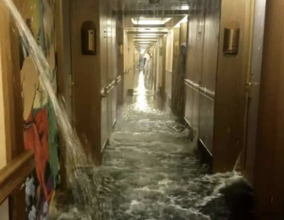Footage from flooded Carnival cruise is terrifying