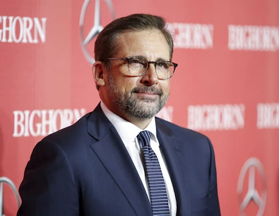 Steve Carell steps out looking shockingly different