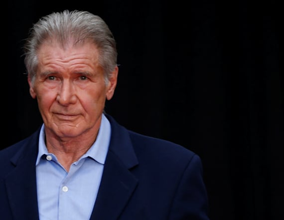 Harrison Ford helps woman after she crashes car