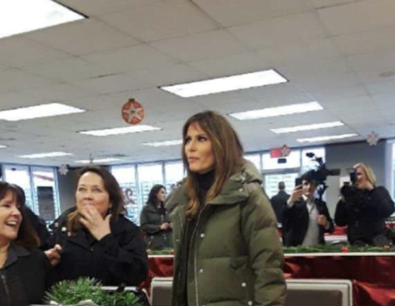 Melania visits Whataburger in Texas