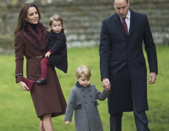 Kate, William and family attend Christmas services