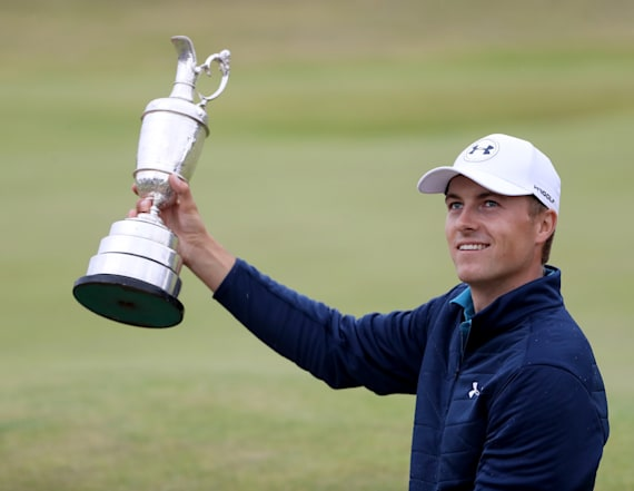 Spieth drank out of the Claret jug to celebrate win