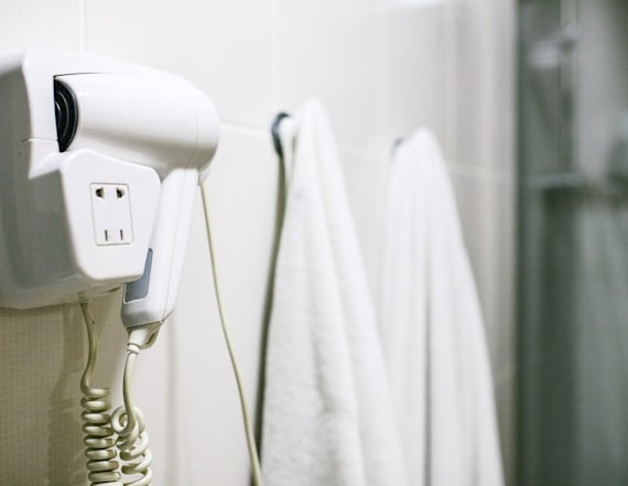 Why you shouldn't use the hair dryer in hotel rooms