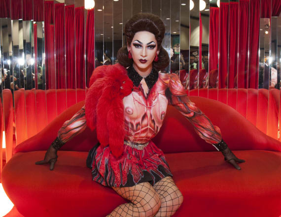 Drag queen makes history in lingerie campaign