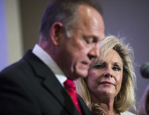 Moore's wife thinks Trump owes them a 'thank you'